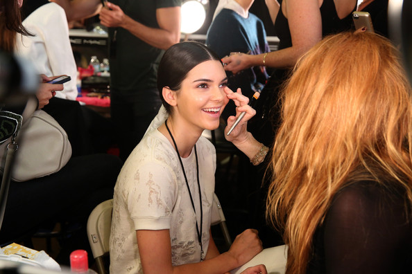 Kendall Jenner backstage for Donna Karan  (photo by Cindy Ord/Getty Images)