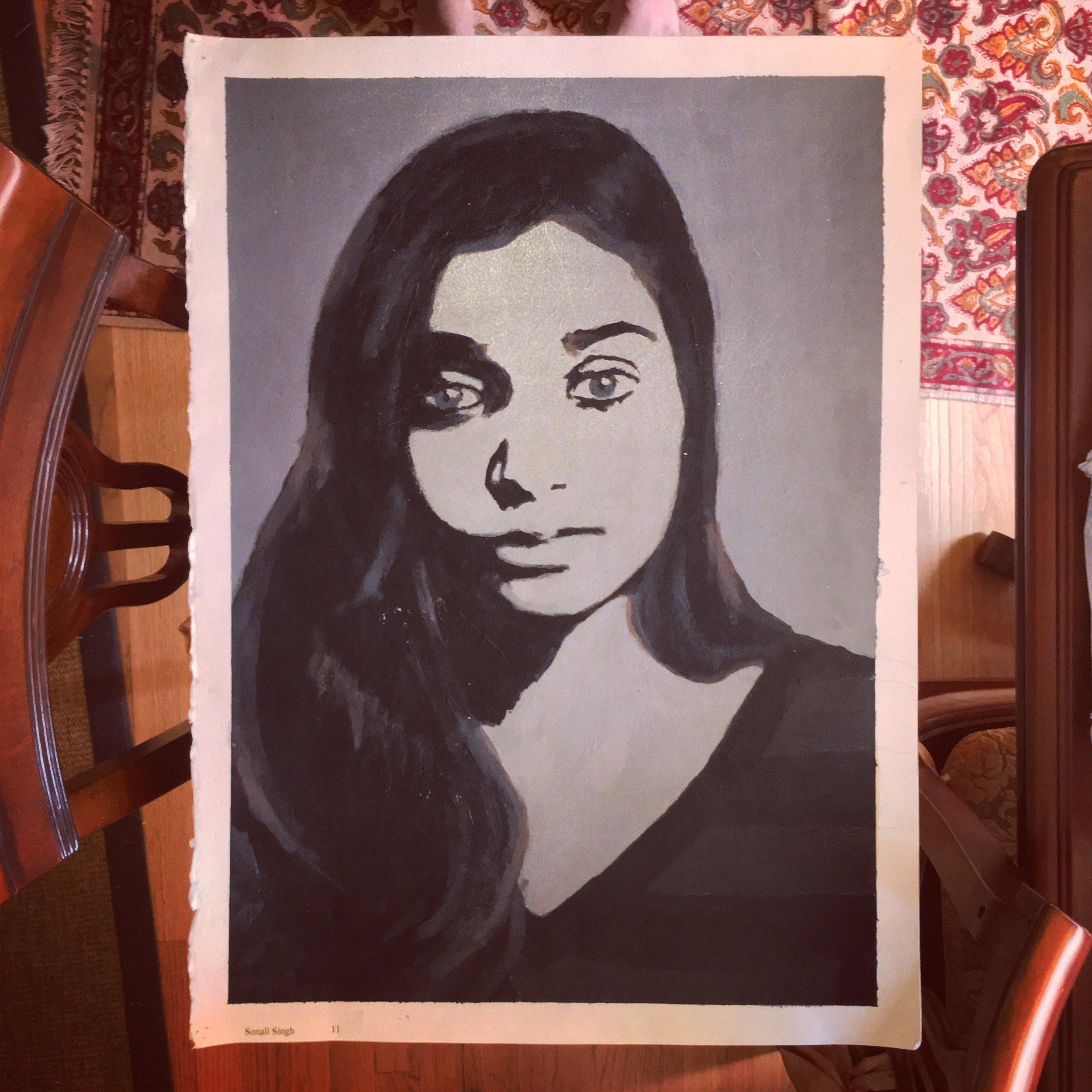 Self-Portrait  - acrylic - 2013 - philadelphia