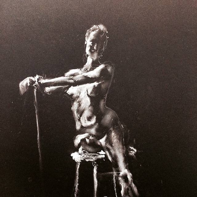 Her  - white charcoal - 2014 - stanford