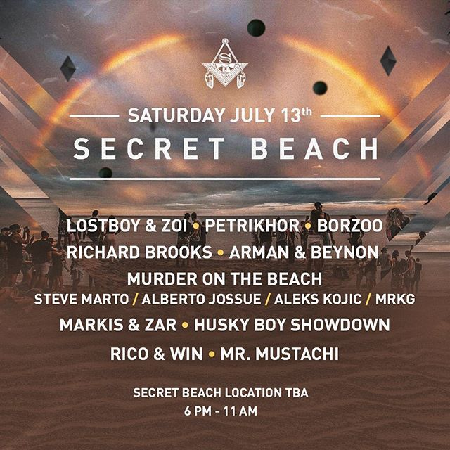 This Saturday 🏖 NOTE: we are NOT using the same location as last year. Email info@secretsocietyto.com for directions and details. See you on the beach. 😎 #secretsocietyto #secretbeach #beach #housemusic #toronto #localsonly #openair