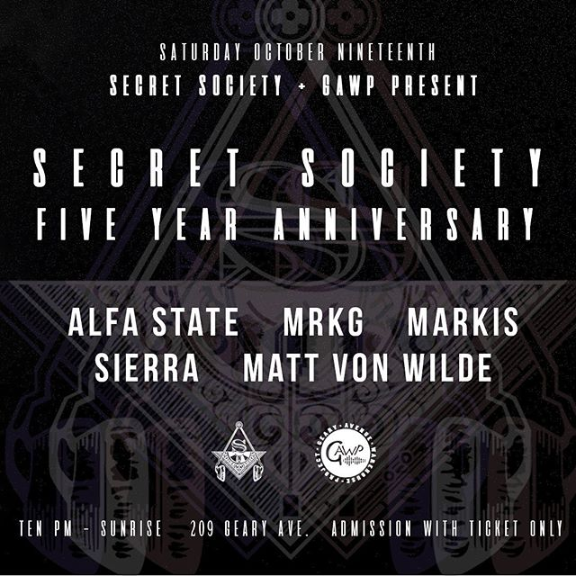 🎂 We are turning 5 and you are invited to celebrate with us! Join us as we team up with @gearyavenuewarehouseproject for our annual season opening birthday party. This year we have our dear friend @alfa.state headlining for us. Limited early bird tickets available now! You cannot get in without a ticket, they will NOT be available at the door!! Link in bio! 🚨Read the description and know the rules!! ☝🏽#secretsocietyto #gawp #toronto #5years #anniversary #housemusic #localsonly #warehouse #sunset #sunrise