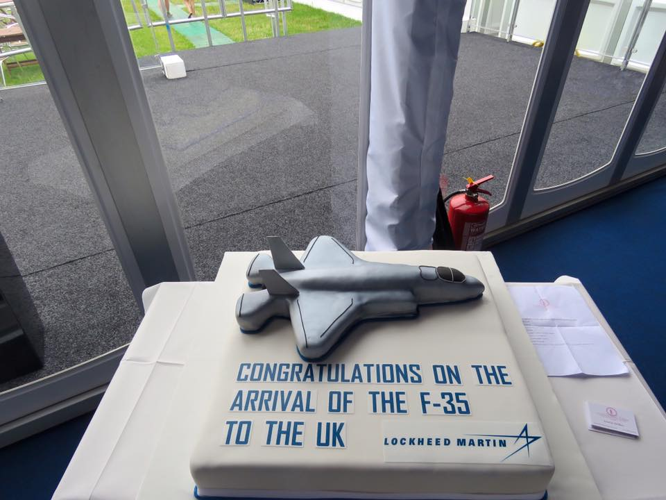 Lockheed Martin - Lockheed Martin CakeWe were commissioned by Lockheed Martin to make them a cake for their UK public unveiling of the new F35 Fighter Jet. With very specific requirements from font, colour, style and logo, we produced exactly what our client requested.