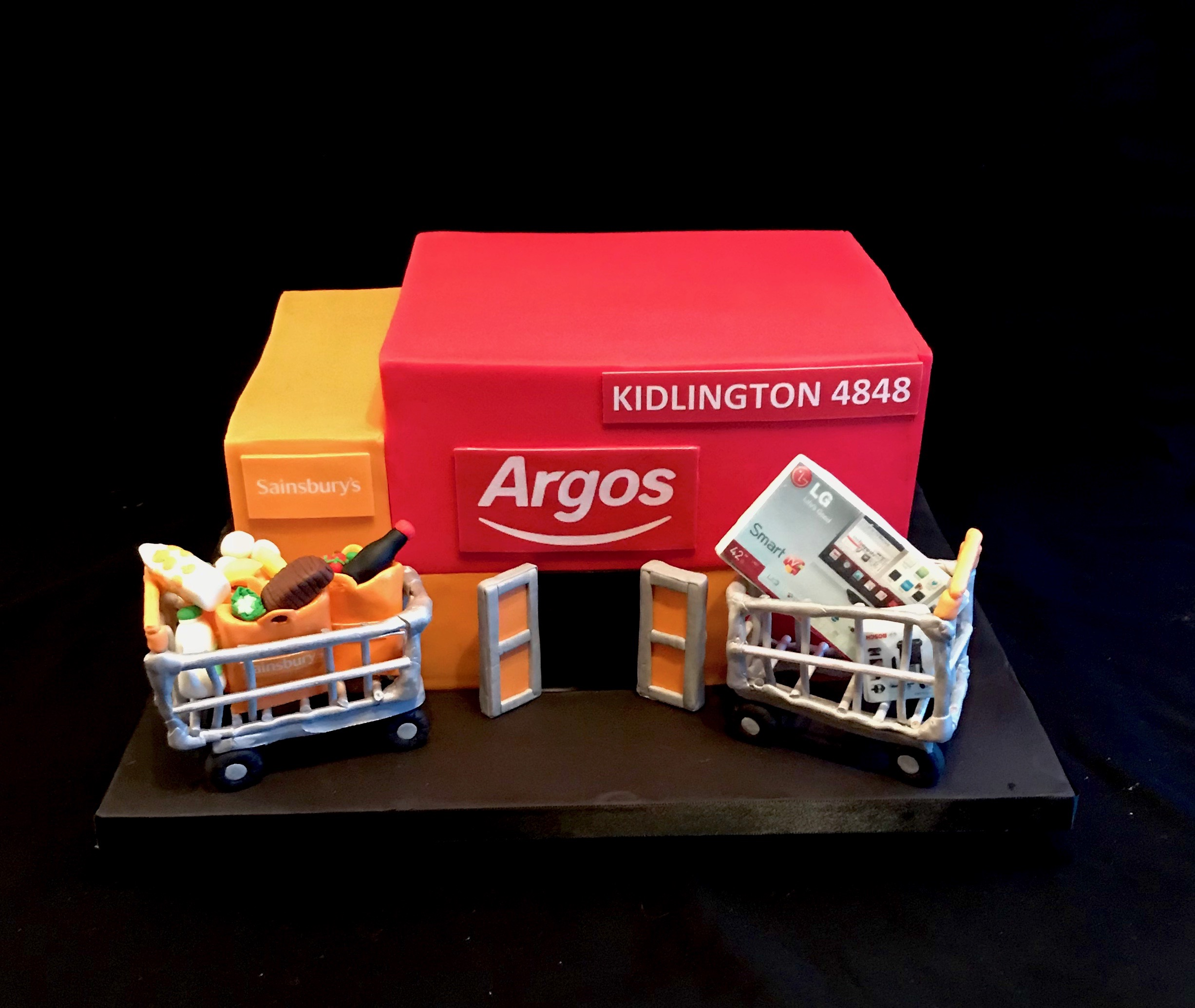 Argos - We were commissioned to make this cake to celebrate the opening of their new store within the Sainsbury's store based in Kidlington.