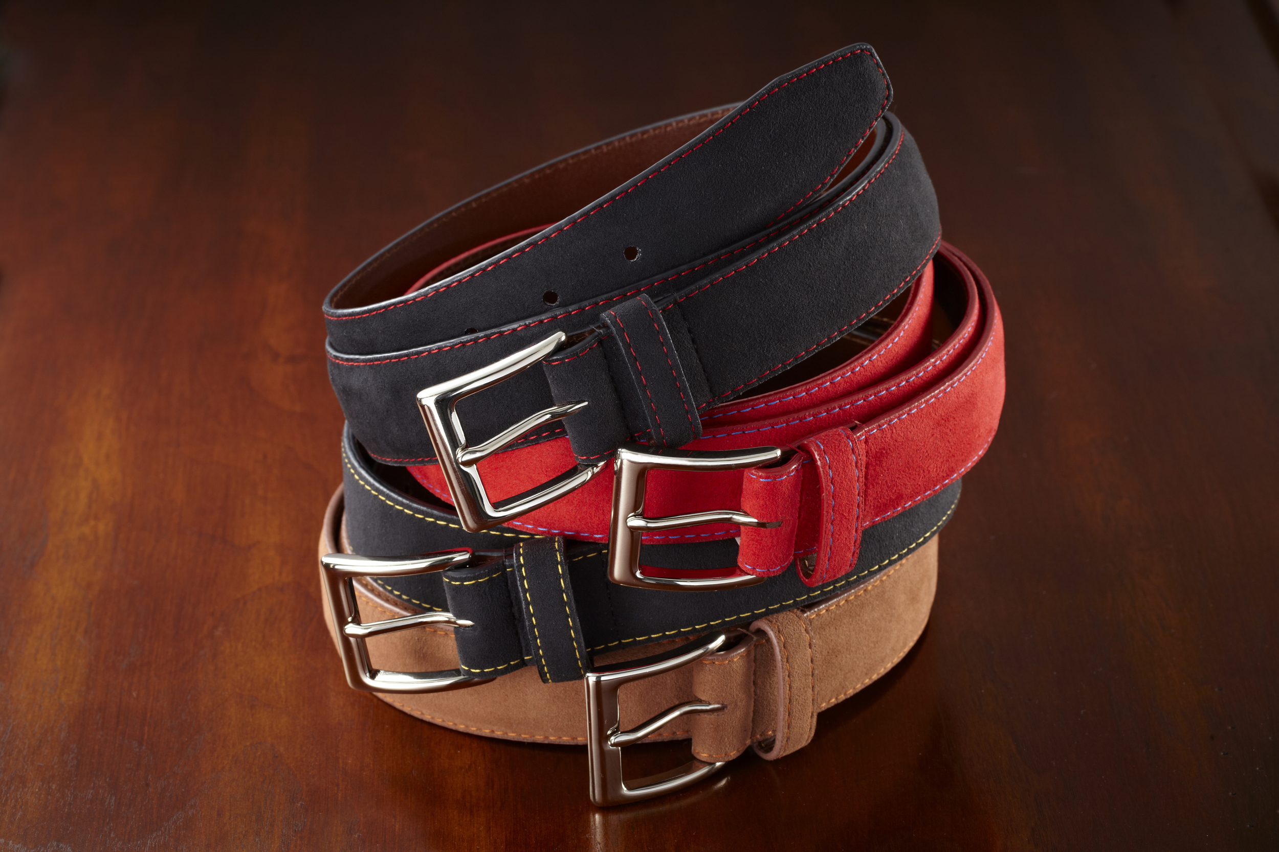 Handmade leather belts for classic car lovers