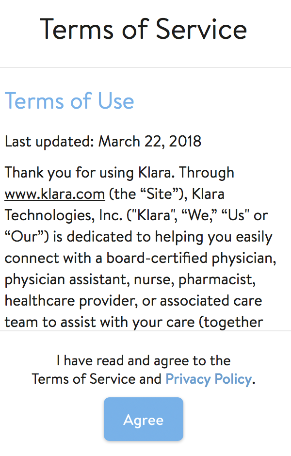Klara terms of service.png