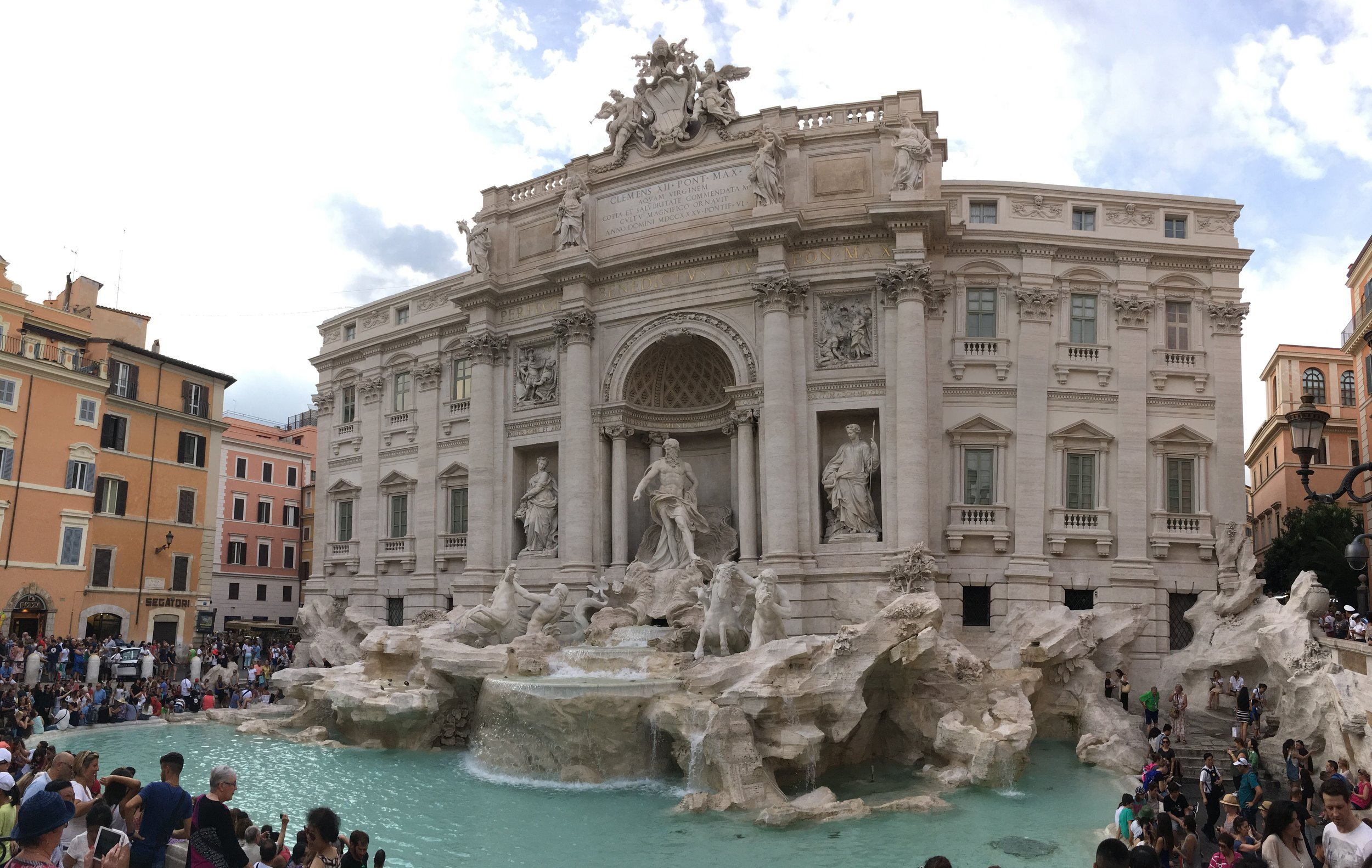 Trevi Fountain. There were SO many people there.