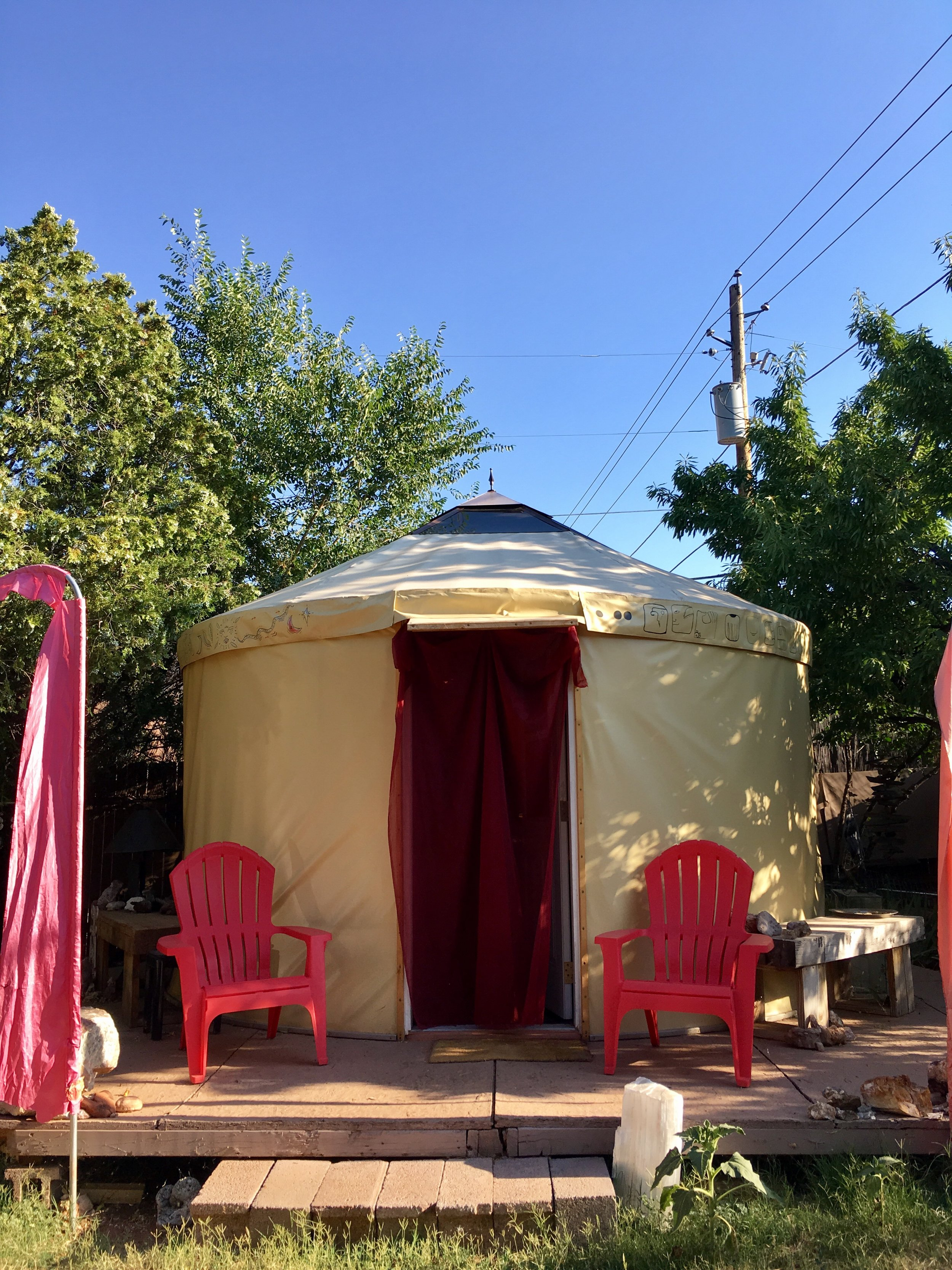Airbnb in Sedona ~ The Yurt.