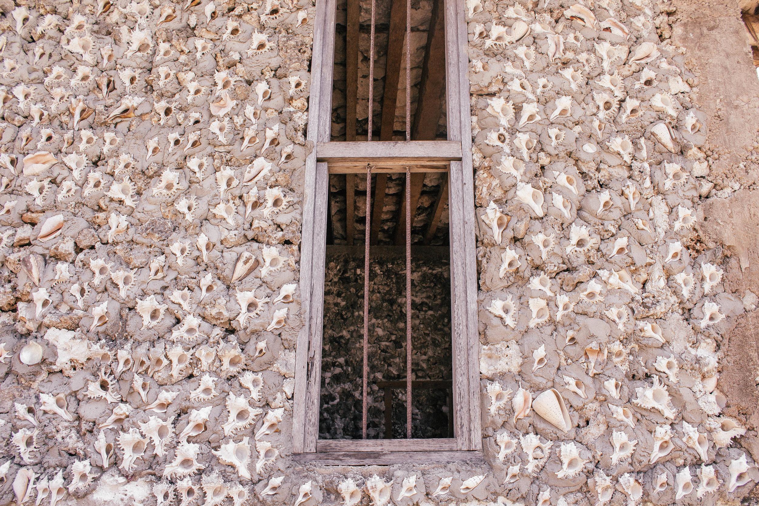 Home made of seashells