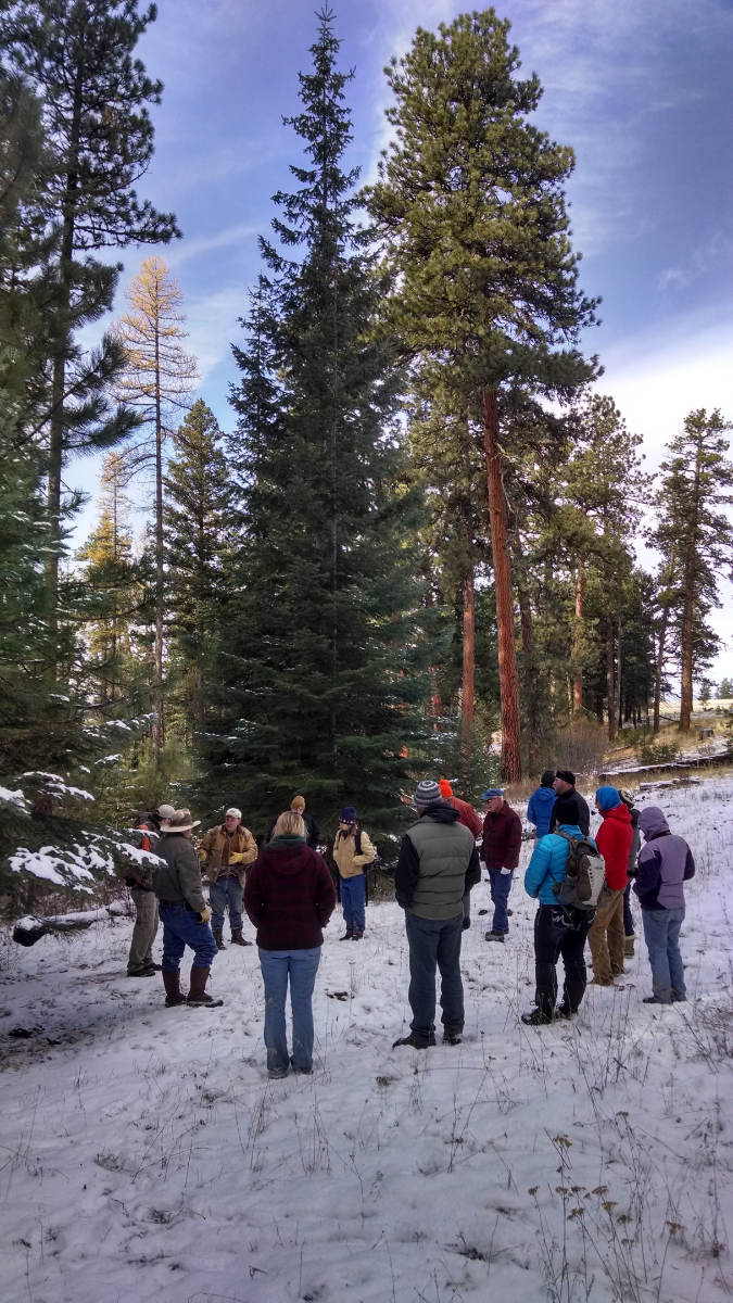 our group on a winter field tour