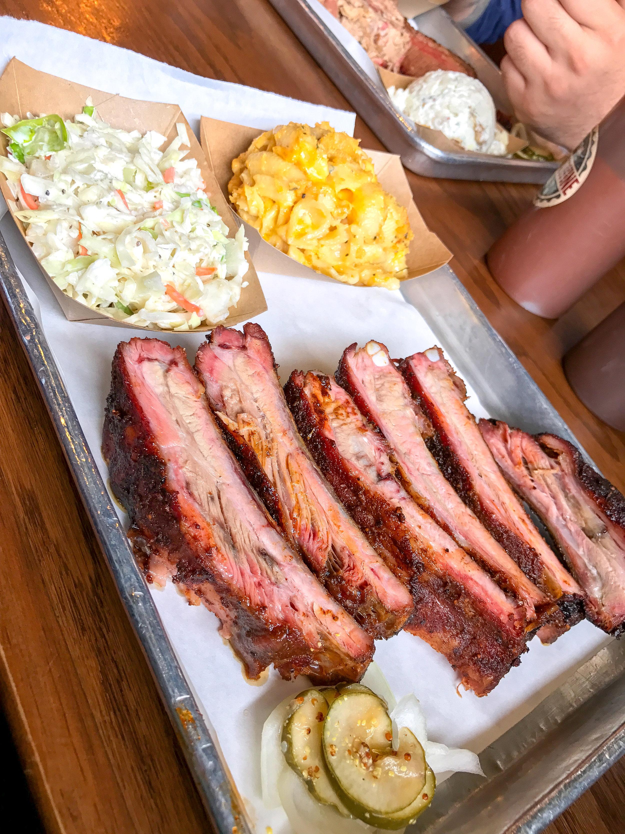 Amazing BBQ ribs in South Carolina