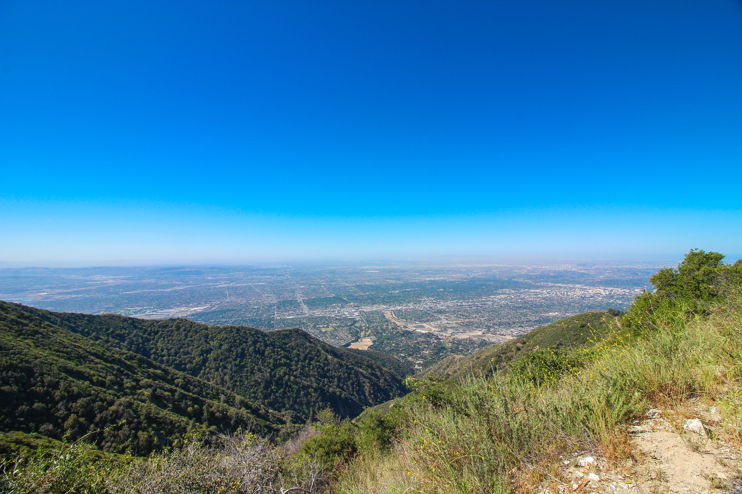 The LA Basin as seen along the path towards Mt. Wilson.