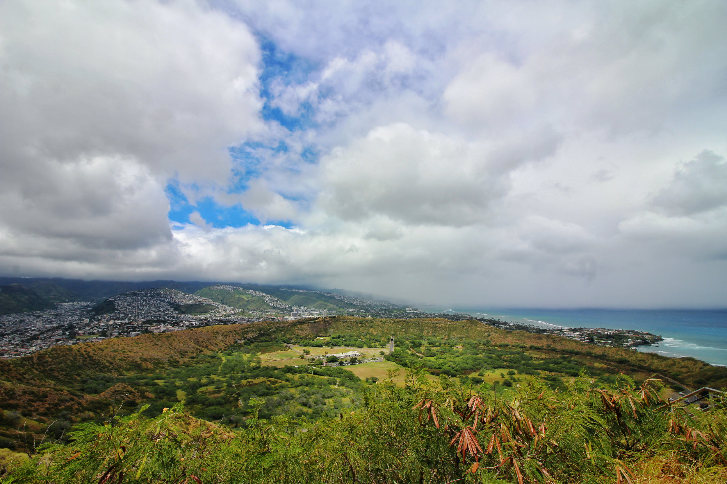 Top of Diamond Head Crater.