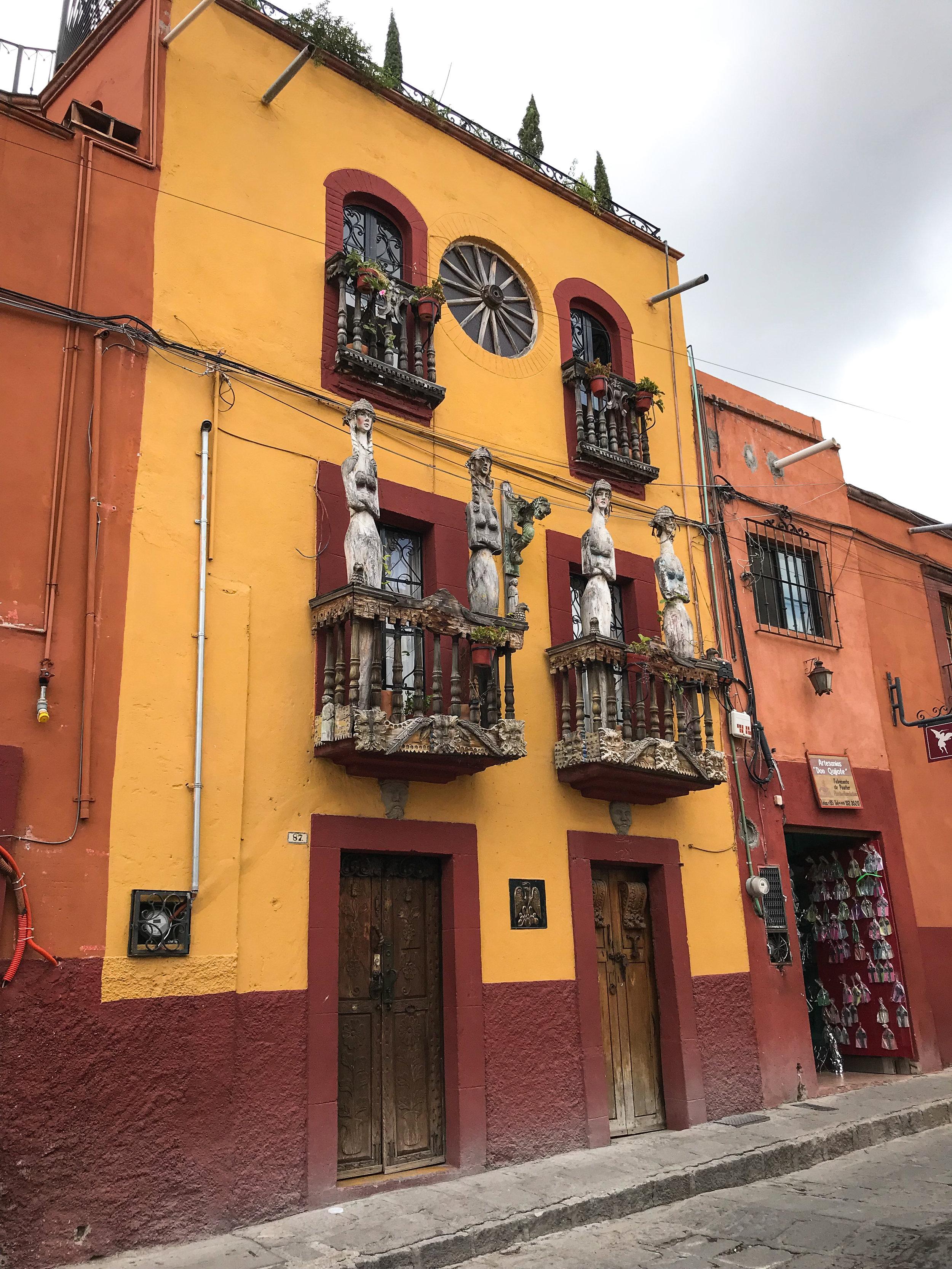 More Balcony decorations in Door in San Miguel de Allende, Guanajuato, Mexico.