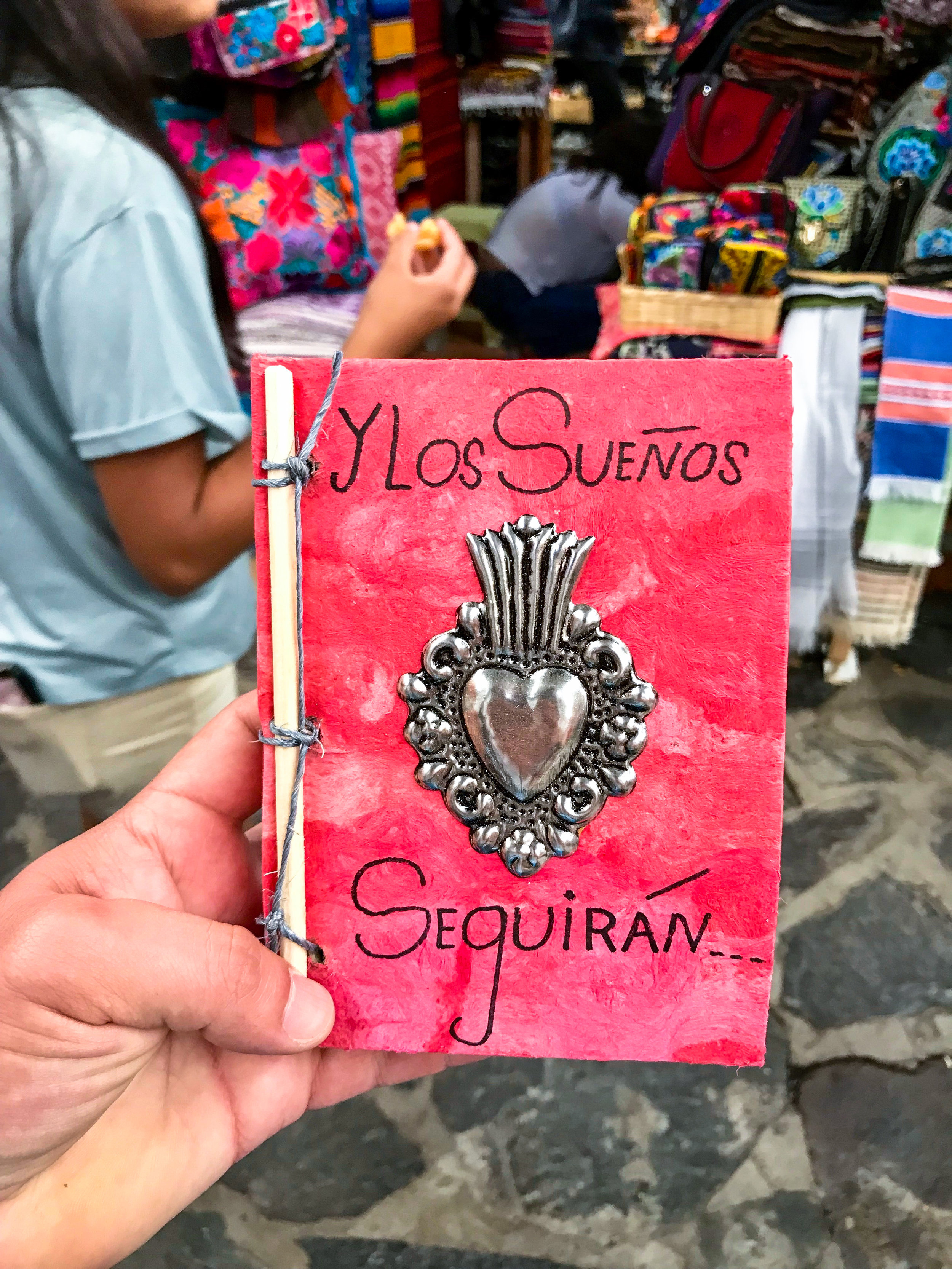 The notepad the artisan made me in Door in San Miguel de Allende, Guanajuato, Mexico.