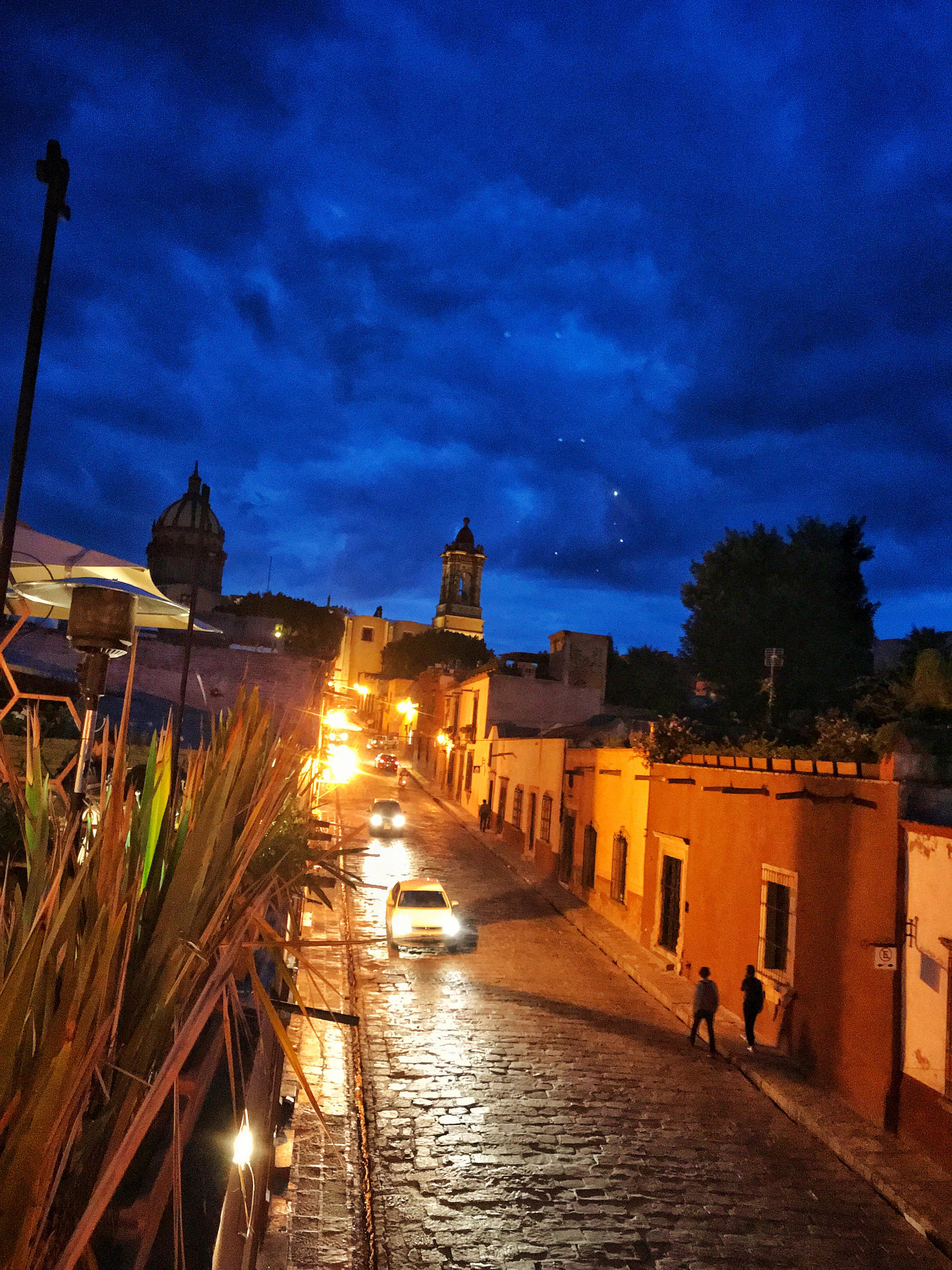 View of Door in San Miguel de Allende from the roof of Sabroso Tacos.