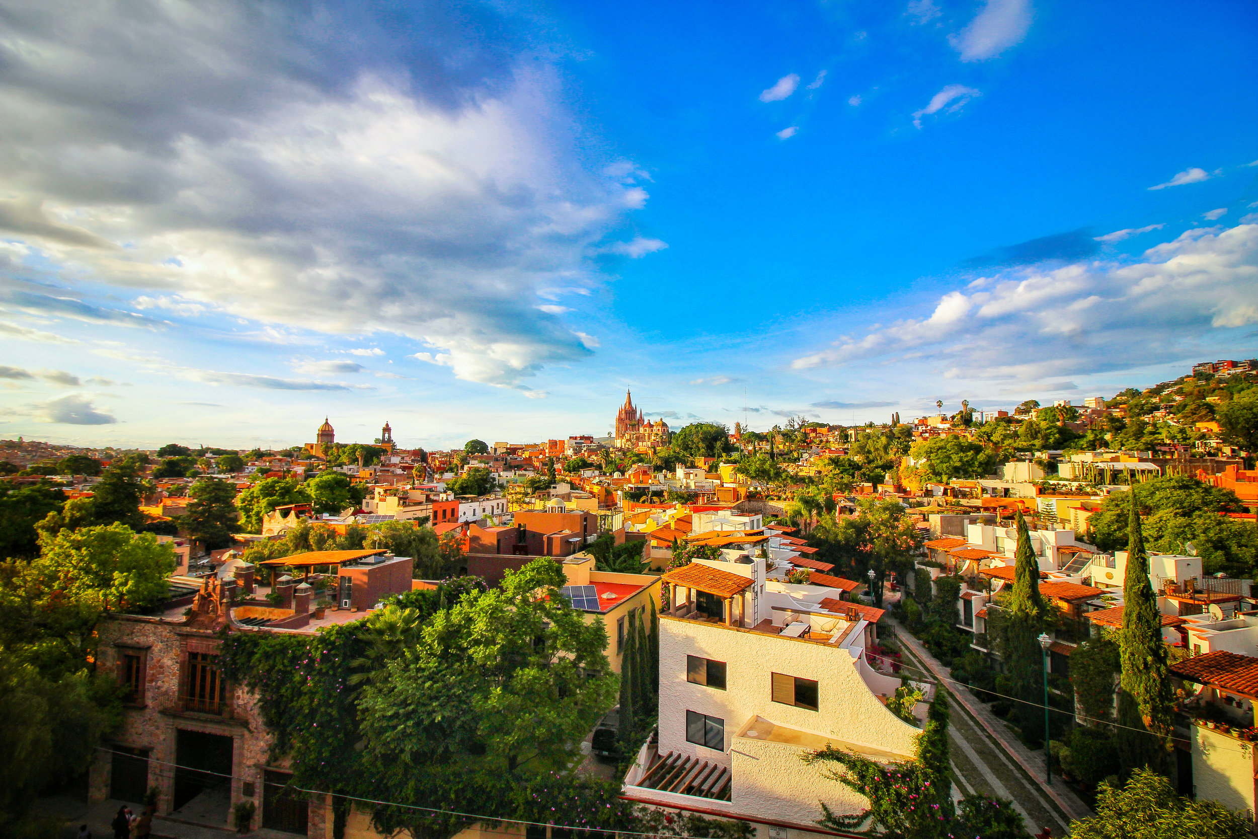 The view San Miguel de Allende from the Rosewood hotel