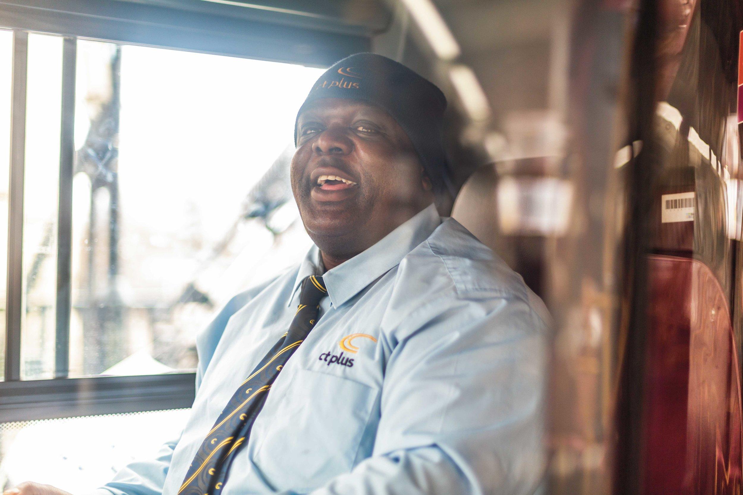 Patrick Lawson, Islington's happiest bus driver