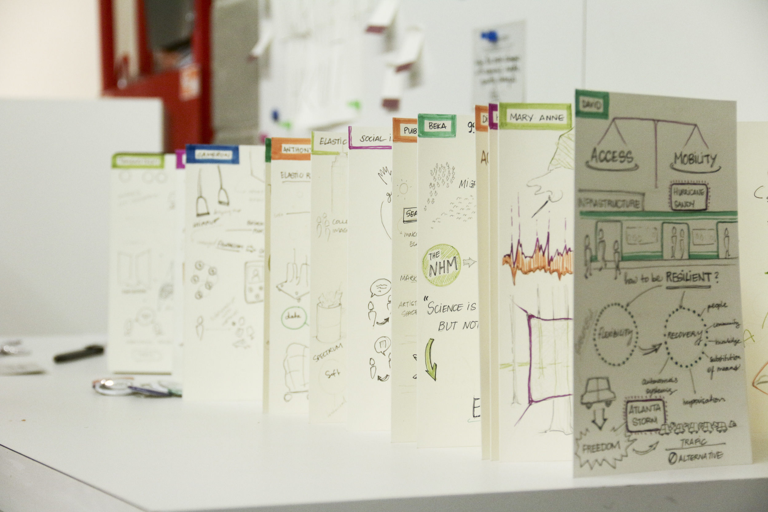 Our visual notes on elasticity made by our visual cross-pollinators sponsored by Moleskine.