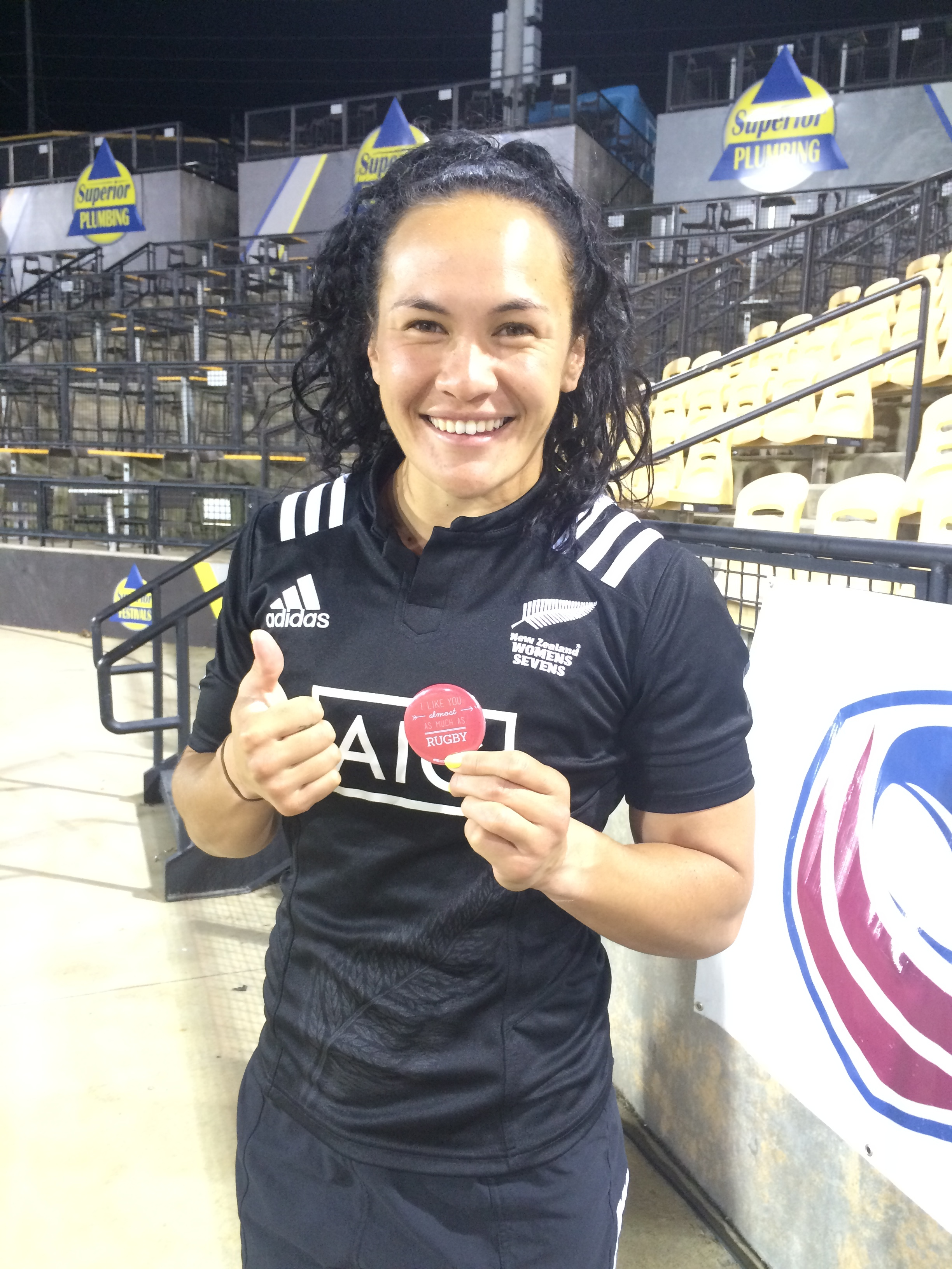 Silver Medalist and Black Fern, Portia Woodman