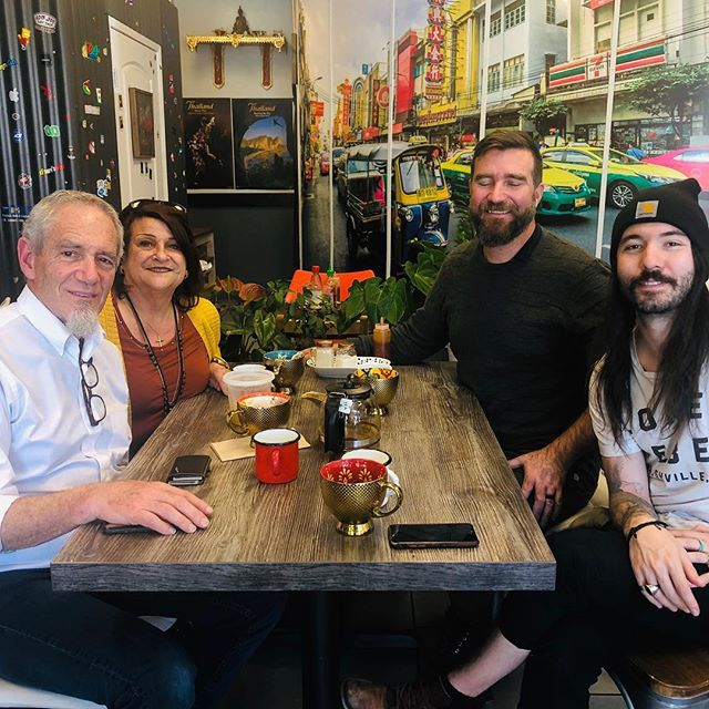 Had a great time with our friends at Refuge in Huntington Beach today. Love this couple, the Welsh's!! And love how good this pic makes me look 😂
