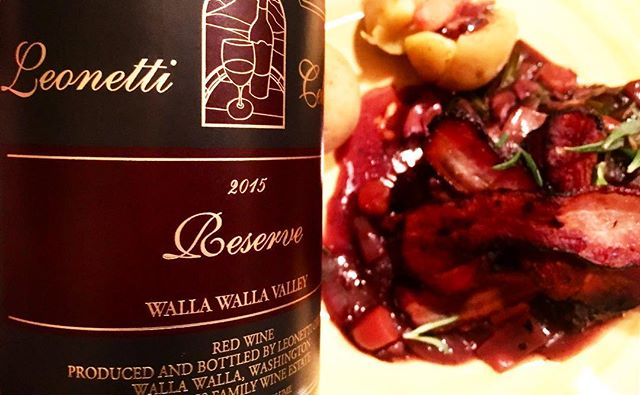 @leonetticellar #2015redwine #wallawallawine #figgins #figginsfamilywines #bordeauxblend  One of the originators and 'cult' Bordeaux blends from Washington State. Made by the 'Figgins' clan (buy any wine they are associated with) this is a very serious wine, deeply coloured and flavoured. Youthful and reflective with a deep ruby crimson colour that leads on to a classic high quality ripe Bordeaux nose, one that sports really complex aromas that continually evolve in the glass- one belaying intense ripe fruit aromas of black and red cherries, currants, cedar, green bell peppers, pencil lead, weedy-marijuana, scorched earth, chocolate and new vanilla oak. Very full bodied-Pure crushed ripe red and black dense fruits on the palate, juicy, plush, rich and super-concentrated, powerful with a serious depth of fruit. The wine just pulls back from being syrupy with its high acidity and actually ends up being surprisingly elegant. Still, it's so concentrated, with dense tannins it will easily last a juicy 10 years and improve up until then. Dry, sleek, velvety and smooth in the mouth this is a classic in ultimate wine-making, incorporating a pin-point balance of acid to fruit to tannin- it's a very high quality wine with extra time in hand. Excellent, seductive and alluring, it's a killer wine for New-World Bordeaux style addicts. Served with venison with a red wine reduction 🍷  #redwine #wine #vino #leonetticellar #figginswine #washingtonwine #wallawallawine #cheers #christmastime #winetime #wineaddict #wineoclock #redaddict #christmaswine #bordeaux #beautifulwine #dinerenamoureux #loveandwine #christmas #alcoolwithlove #love 🍷