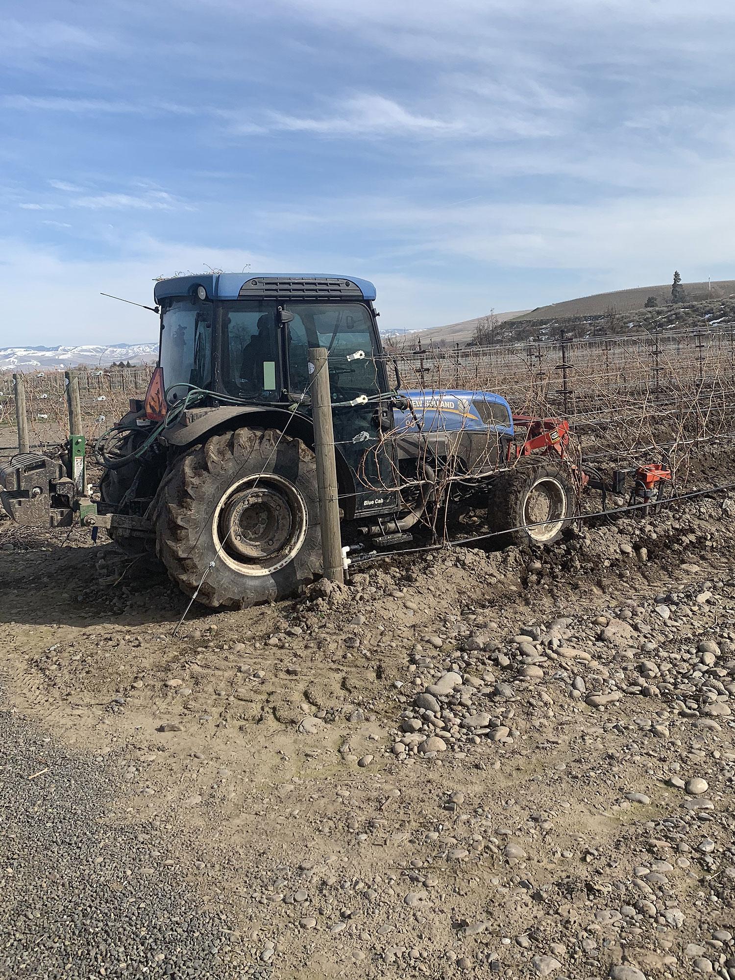 Delmas vineyard tractor