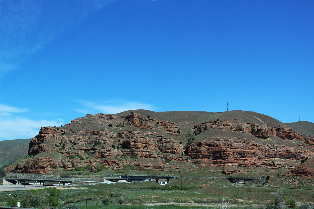 The rock formations and colors were absolutely stunning driving through Utah