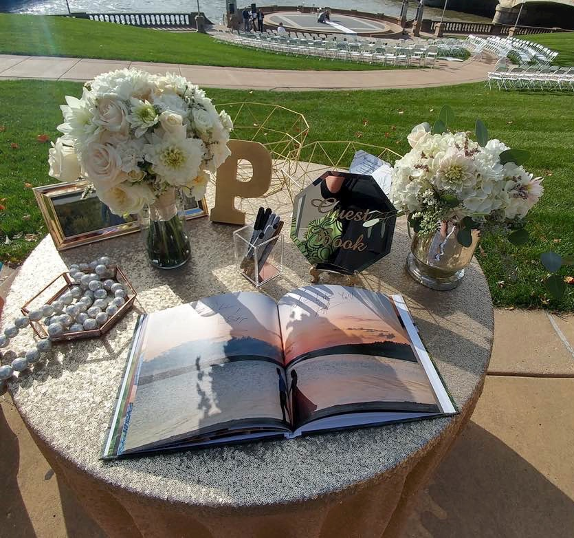 Ceremony guest book table