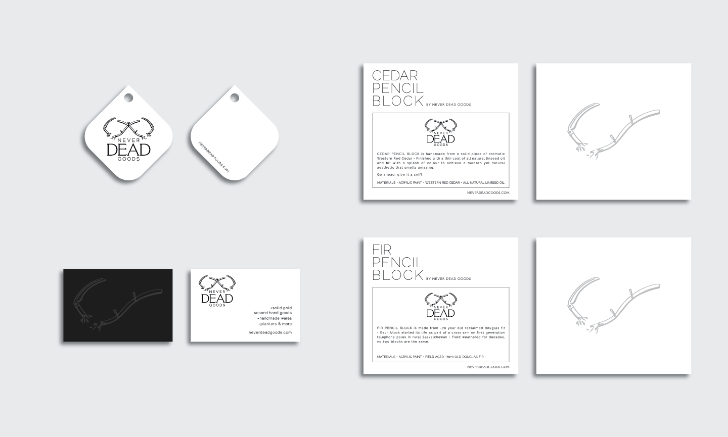 hang tags, business cards and product cards