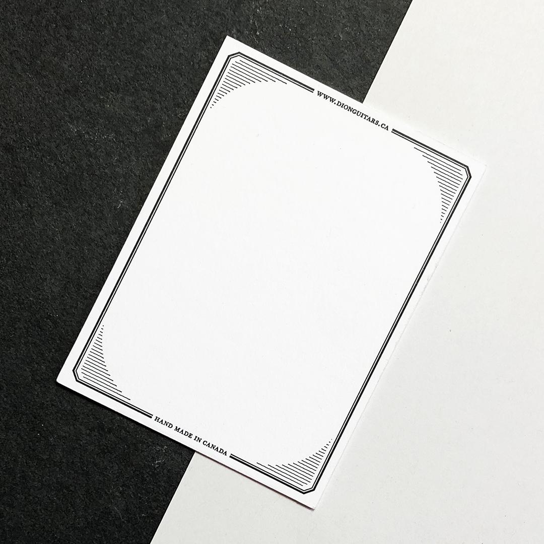 information card back