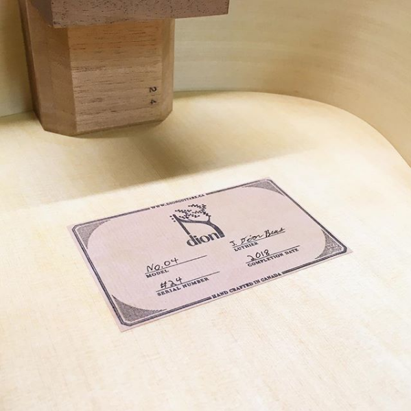 guitar label
