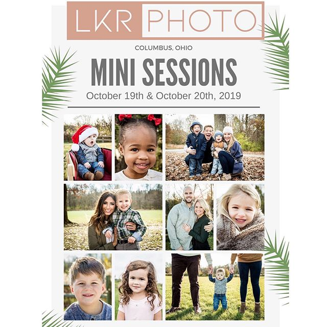 ONLY 2 weeks till my Columbus, Ohio - Mini Sessions! (October 19th & October 20th, 2019)  You don't want to miss out on this opportunity - I won't be back to Columbus till 2020!  To book your appointments - just click the link in the BIO and pick the perfect time slot. ❤️ #engagement #engagementphotos #weddingday #Columbuswedding #engagementsession #engagementphoto #columbusweddings #columbuswedding #614wedding #ohioweddings #ohiowedding #weddinginspiration #weddinginspo #weddingideas #weddings #ohio #columbus #columbusohio #minisessions #columbusminisessions