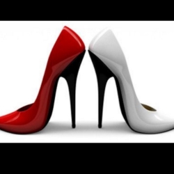 Classic outline of stiletto heels