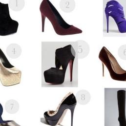 Various styles of stiletto heels