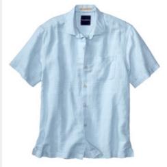 A men's linen collared shirt