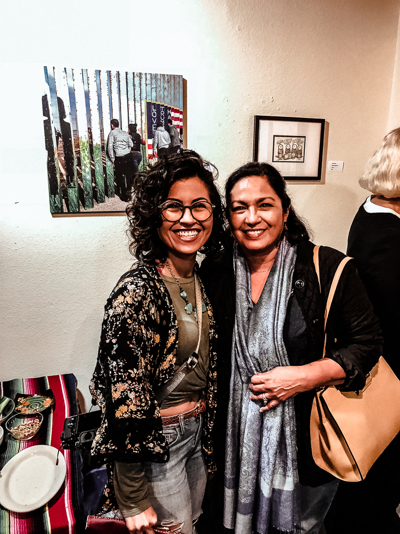 Here's my mom who came to support the event and my art.