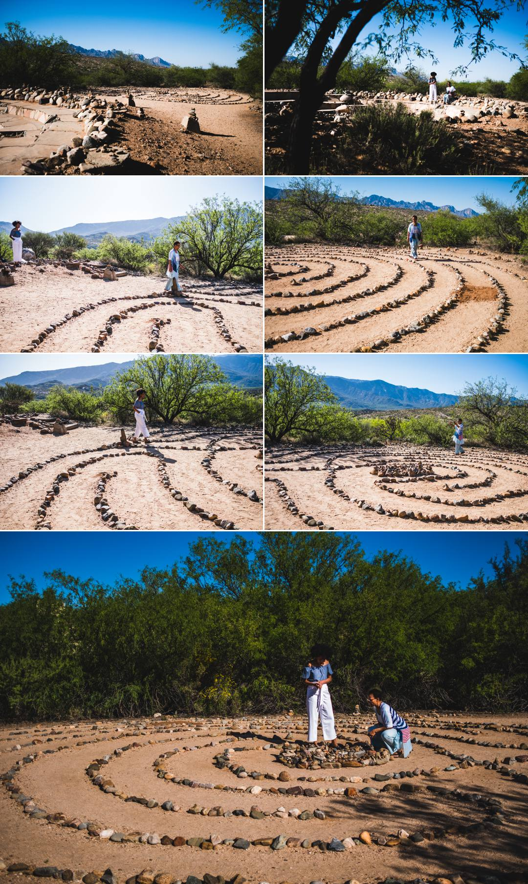 Like this labyrinth journey that invites you to release what no longer serves you while you walk around the path