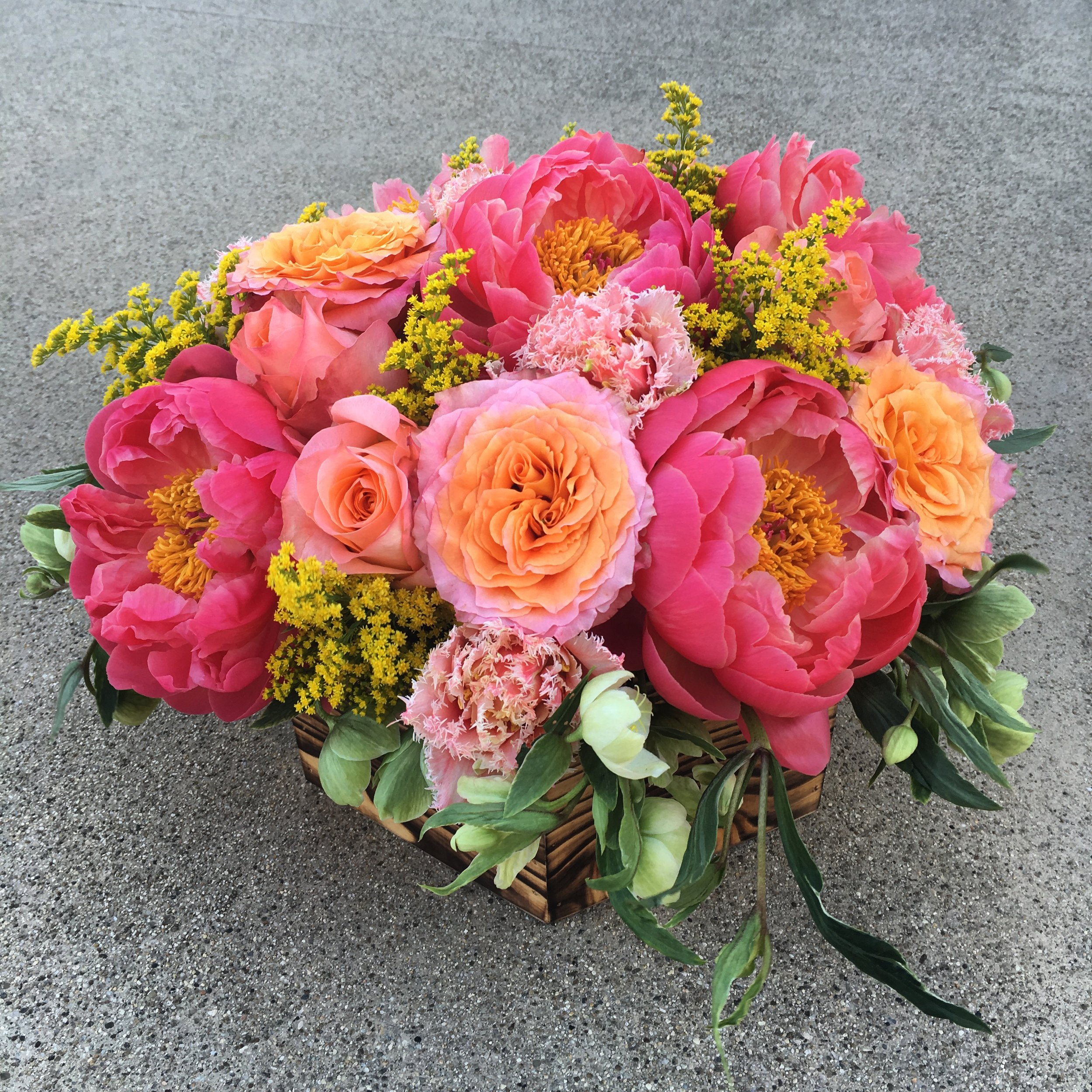 21. Peony and Free Spirit Rose Arrangement