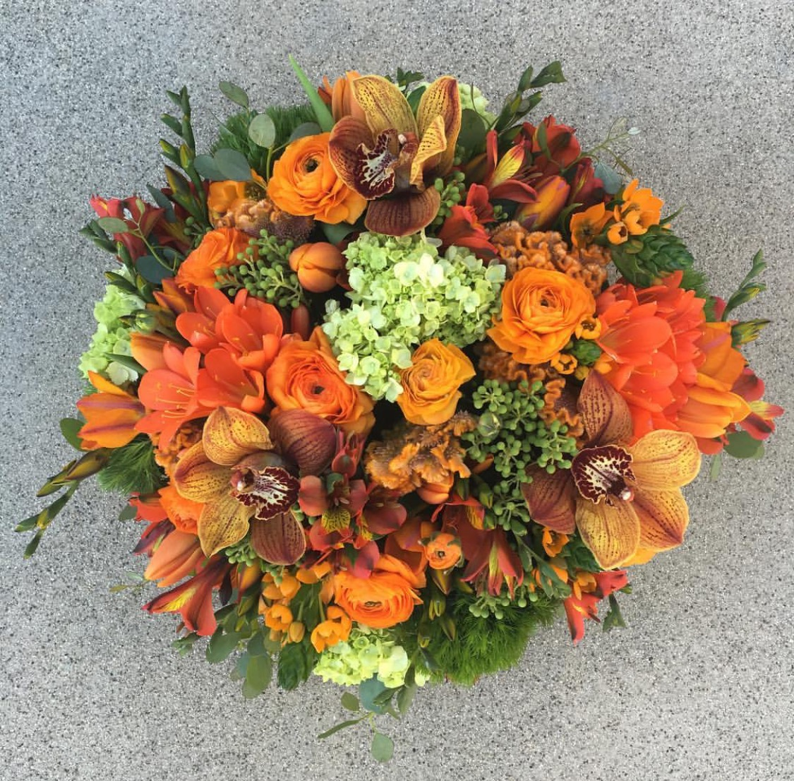 23. Orange Centerpiece