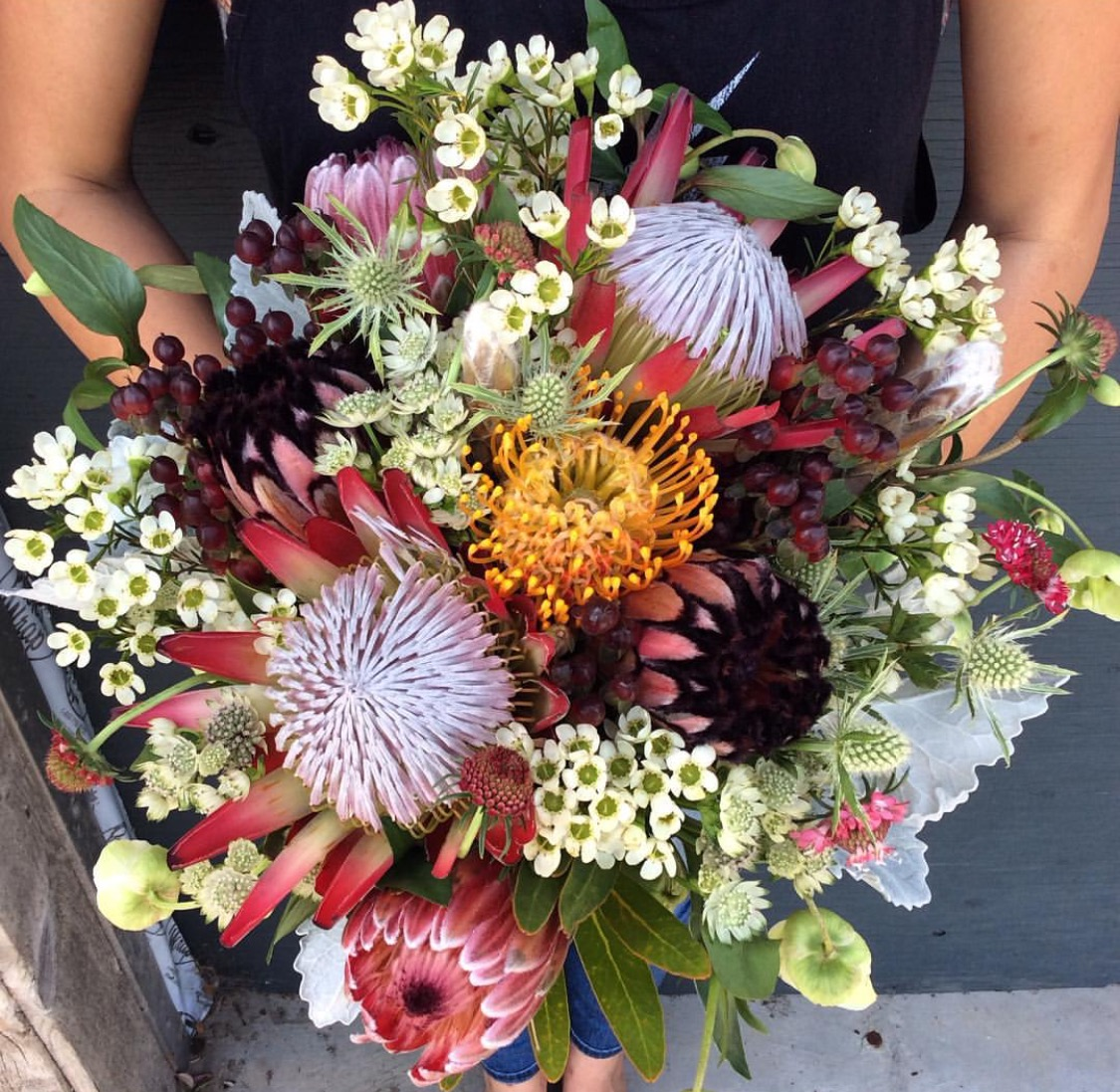26. Protea Hand Wrapped Bouquet