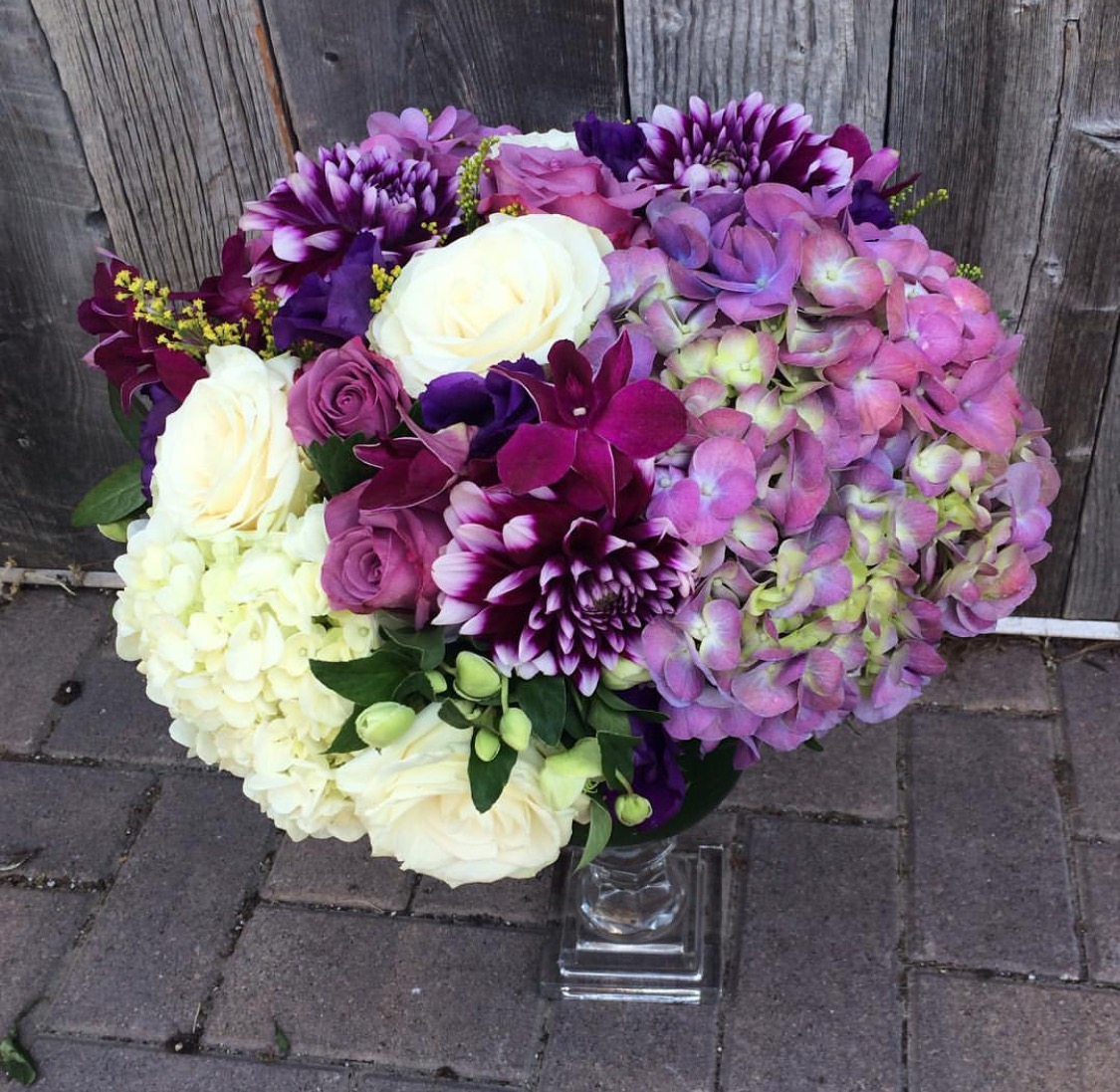 28. Designer Hydrangea and Dahlia Arrangement