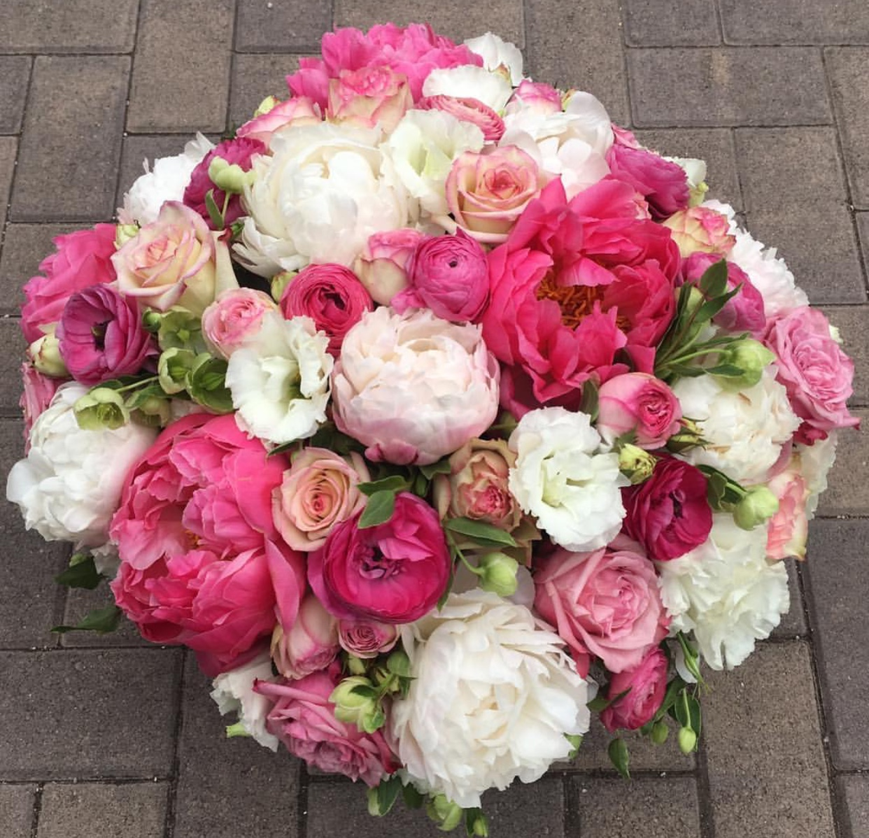 52. White and Pink Peony Arrangement