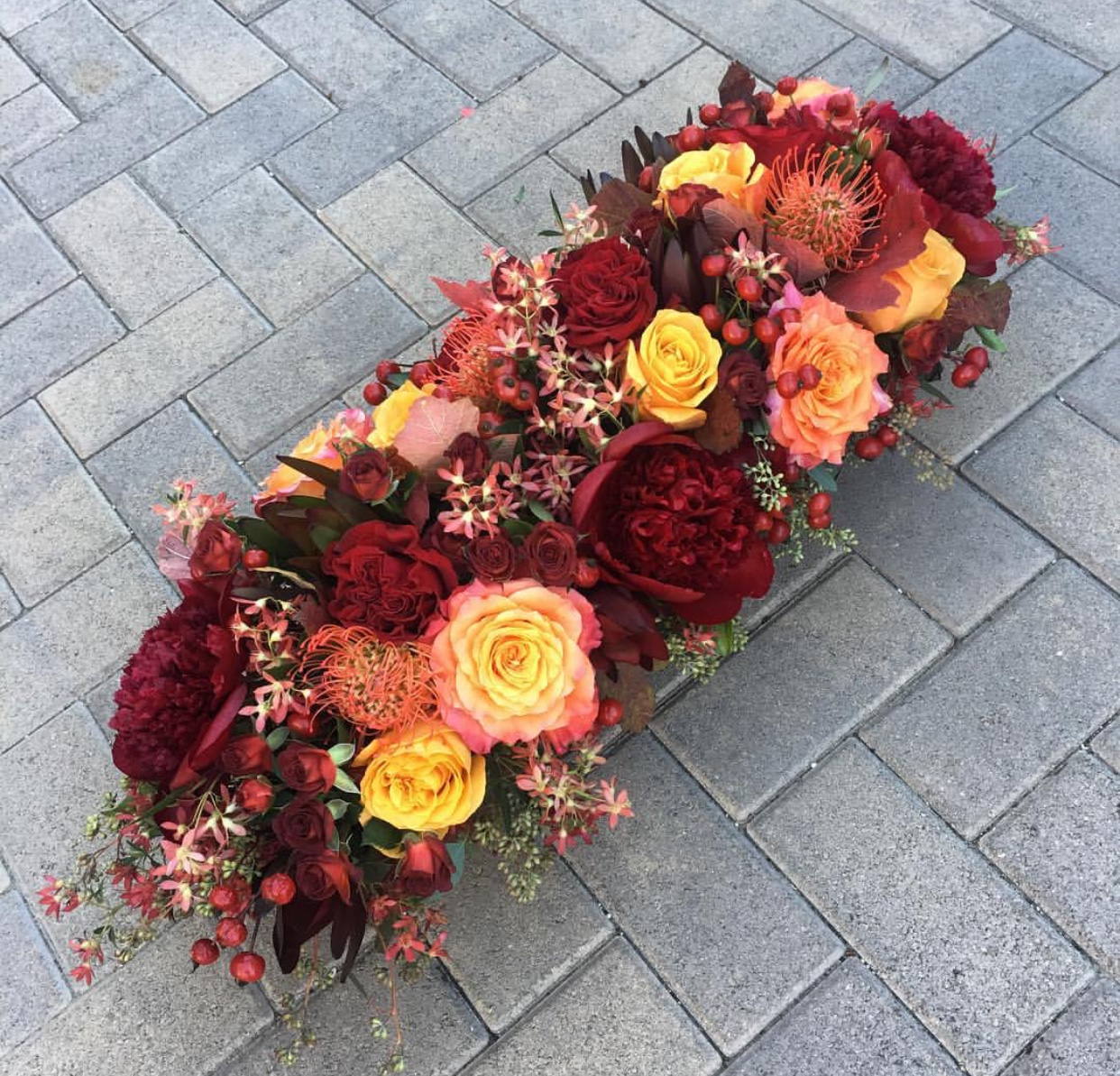 51. Autumnal Rectangular Centerpiece