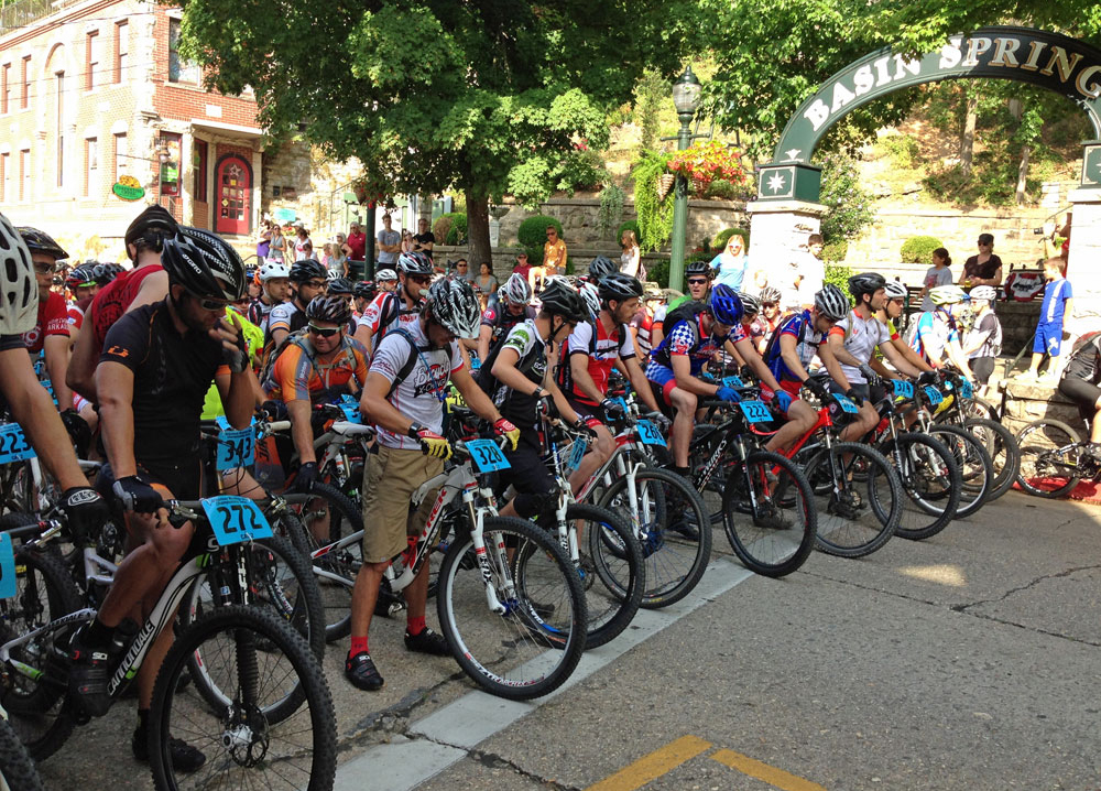 The cross country start at Basin Park is one of a kind. Racers take off through town while lines of spectators cheer on.