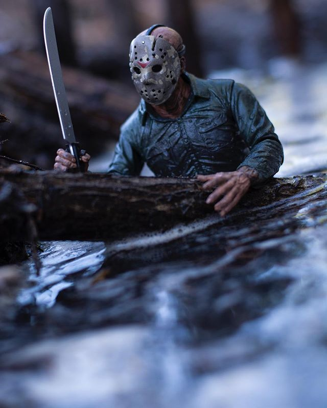 Someone's been swimming in my lake. . . #toptoyphotos #toyartistry #toythug #toysyn #toyoutsiders #horror #fridaythe13th #jasonvoorhees #darkart #neca #conceptart #renderzone #toyphotography #toydiscovery #horrorart #nightmare #toyartistry #wherenightmaresdwell #toyphotography #neca @necaofficial