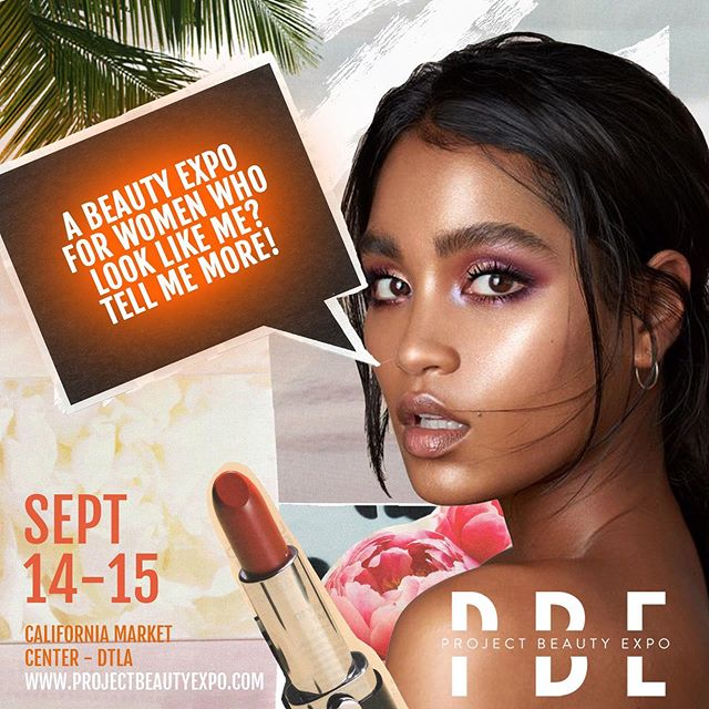 Here's the tea - #PBE2019 is where you need to be September 14th + 15th if you're into beauty, women of color in business, and networking with fellow beauty lovers and experts. Get your tickets today at www.projectbeautyexpo.com
