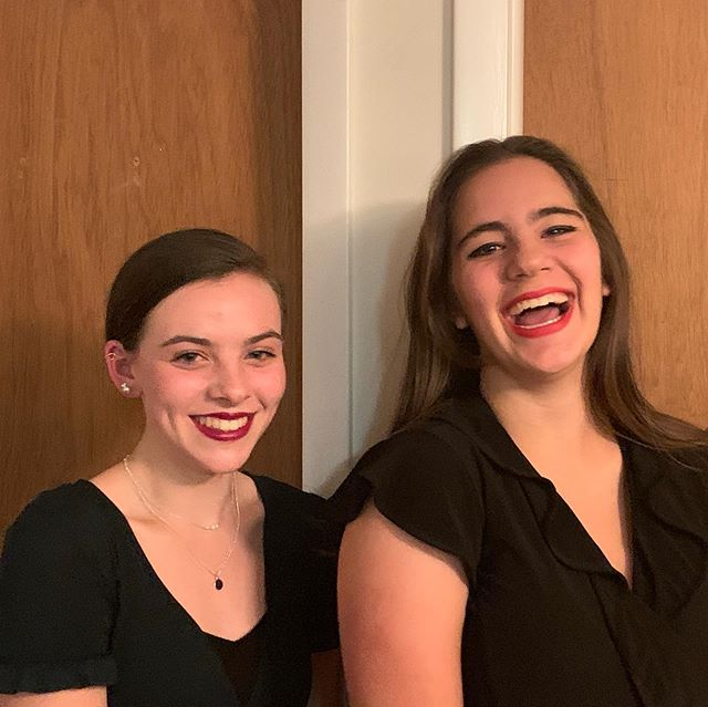 Two beautiful (and wacky!) girls go to Homecoming!