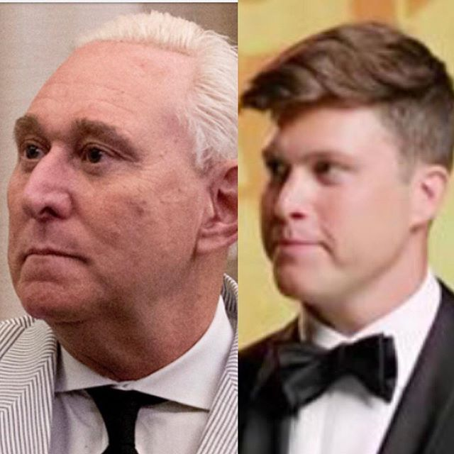 Roger Stone is Colin Jost's actual dad. #hugeiftrue