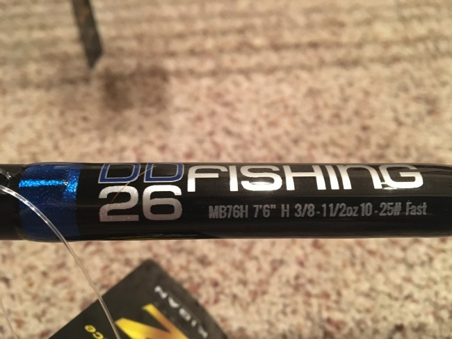 "MB76H 7'6"" Long Heavy. Dragging jigs or flipping heavy cover your going to need this rod to dissect shell beds and mats!"