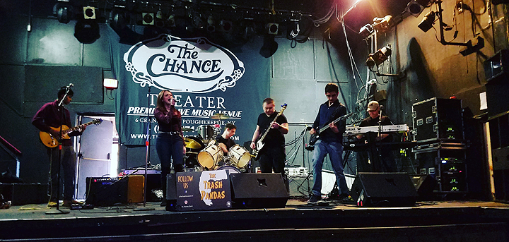 Soundchecking at The Chance with New Paltz Rock band The Trash Pandas